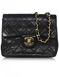 chanel vintage bag. chanel vintage black quilted lambskin square mini flap bag
