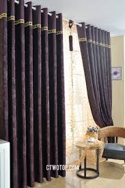 Dark Purple Patterned Blackout Swag Custom Small Curtains Online