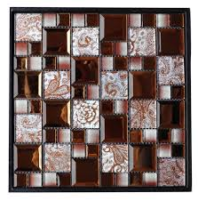 brown mirror glass mosaic tile