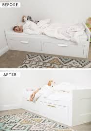 ikea brimnes bed. IKEA Hack // Adding Brass Pulls To The BRIMNES Bed. Ikea Brimnes Bed E