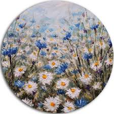 design art glade of cornflowers and daisies ultra glossy floral metal circle wall art walmart canada on metal flower wall art canada with design art glade of cornflowers and daisies ultra glossy floral