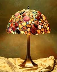 Tik Tok Too features stunning seashell lamp shades ~ by Desire Gillingham
