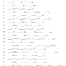 balancing equations worksheet community college
