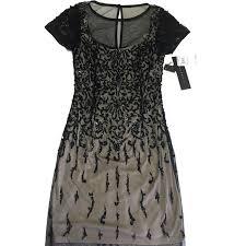 Aidan Mattox Handmade Designer Beaded Yoke Dress Nwt