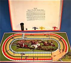 Wooden Horse Race Game Rules STEEPLECHASE HORSE RACING BOARD GAME C100s By Spears Games 16