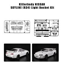 Us 9 75 50 Off Rc Car 48647 Light Bucket Car Decoration Kit For Nissan Skyline R34 1 10 Electric Touring Rc Racing Car Diy Parts In Parts