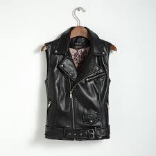 plus size women coat leather vest womens fashion vests womens cool slim vest coats casual veste femme