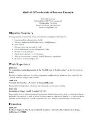 How To Make A Medical Assistant Resume Objective For Resume Medical Assistant Make A Brilliant Samples Of