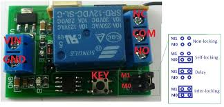 aliexpress com buy 433m dc 12v one channel rf wireless aliexpress com buy 433m dc 12v one channel rf wireless controller relay switch delay momentary toggle latch functions for ev1527 pt2262 ask from