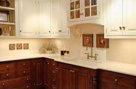 Fine Painting Cherry Kitchen Cabinets White So Sick Of My Dark With Design Ideas
