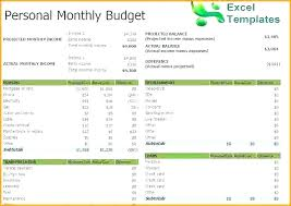 Simple Monthly Budget Spreadsheet Template Worksheet Free Household ...