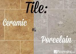 tile ceramic vs porcelain