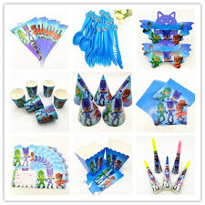 Mask Decorating Supplies HEY Pj Mask Kids Birthday Party Decoration Set Party Supplies 62