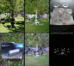 create a solar chandelier for your garden