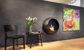 bio ethanol fireplaces with geometric designs
