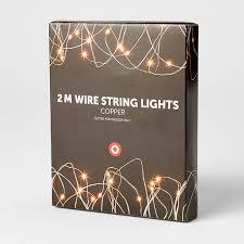 2m copper wire string lights