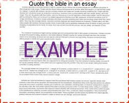 How To Quote The Bible Impressive Quote The Bible In An Essay Essay Help
