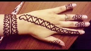Mehndi Girls Design Heart Shaped Mehndi Designs 20 Simple Henna Heart Designs