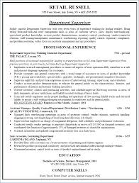Supervisor Job Description Sample | Resume Example