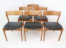 vine dining table and chairs pleasant set six danish teak dining chairs designed by erik buch for od