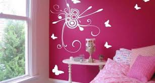 bedroom pink wall paint color