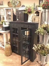 nana s farmhouse glass door cabinet