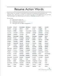 Resume Power Words Pelosleclaire Com