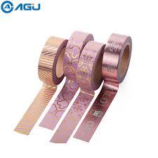 AAGU Fresh Design <b>15mm*10m</b> Gold Foil <b>Washi</b> Tape Solid Color ...