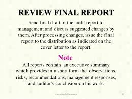 standard terms of reference for audit iapso internal audit cover letter