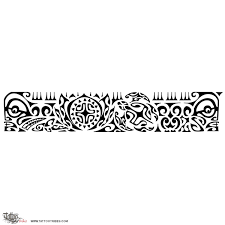 Black Ink Polynesin Armband Tattoo Design And Information Related To
