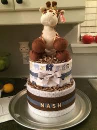 Designer Diaper Cakes Safari Themed Diaper Cake Diaper Designer Cakes Cake