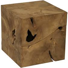 root cube teak wood side table free today with regard to inspirations 16