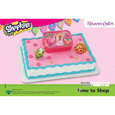 Shopkins Time To Shop Decoset 14 Sheet Cake Decorating