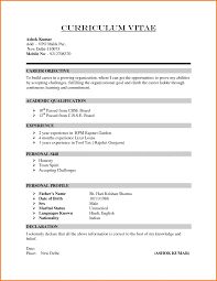 Formal Resume Format Free Sample Download For Templates Official