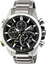"casio watches edifice g shock more watch shop comâ""¢ mens casio edifice time traveller bluetooth hybrid smartwatch alarm chronograph watch eqb 500d 1aer"
