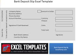 deposit slip examples bank deposit slip excel temp pinterest bank deposit
