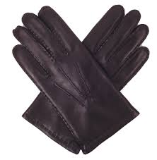 men s black nappa leather gloves cashmere lining