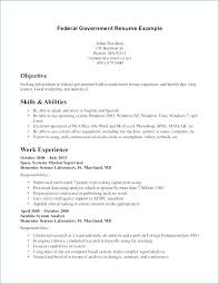 Federal Resume Format Government Federal Employment Resume Format