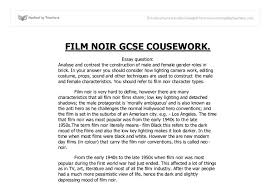 male and female gender roles in brick film noir gcse english  document image preview