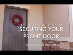 2 inexpensive trick to secure your front door from break ins