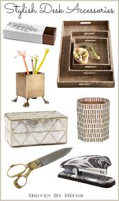 trendy office decor. A Stylish \u0026 Organized Desk: Favorite Accessories Trendy Office Decor