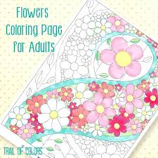 Floral Coloring Pages Basket Of Flowers Colouring Page Flower