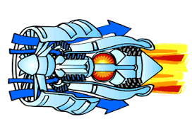 engines an animated image of a jet engine to show how the air flows through the engine