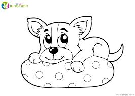 Kleurplaten Honden Kleurplaten Puppy Hondjes Kleurplaat Klein Hondje