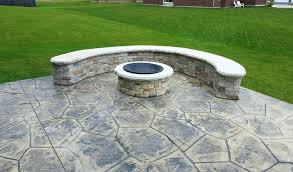 stamped concrete patio with fire pit stamped concrete fire pit with seating concrete craft pictures of stamped concrete patio with fire pit
