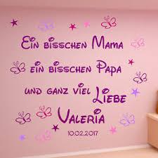 Wandtattoo Kinderzimmer Aa109 Ein Bisschen Mamapapaliebe Spruch