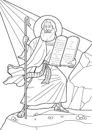 Ten Commandments For Kids Coloring Pages Ten Commandments Coloring