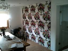 Wandbespannung Aus Stoff Im Esszimmer Wanddeko Wan