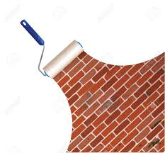 Small Picture Painting A Brick Wall Illustration Design Over A White Background