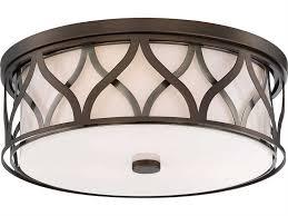 minka lavery harvard court bronze three lights 16 wide flush mount light 840 102